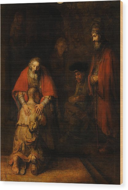 Return Of The Prodigal Son  Wood Print