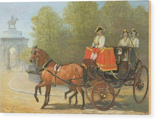 Returning From Her Majestys Drawing Room Wood Print