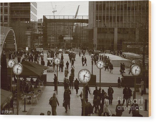 Reuters Plaza  Wood Print by Size X