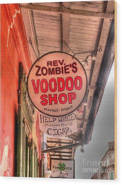 Rev. Zombie's Wood Print
