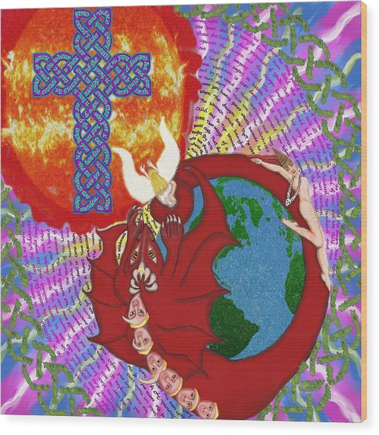 Revelation 12 Wood Print