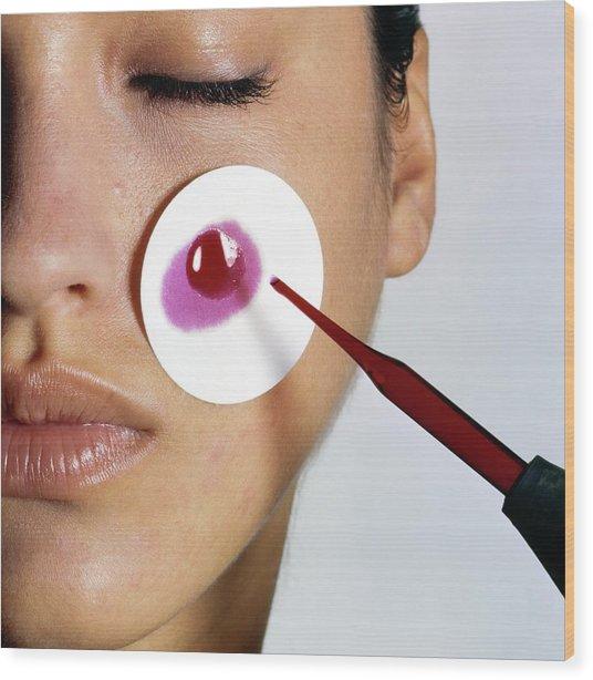 Revlon Moisturizer Skin Adherence Test Wood Print