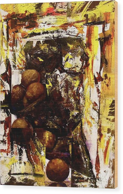 Revolving Sensuality Wood Print by Laurend Doumba