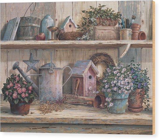 Rhapsody In Rose Wood Print