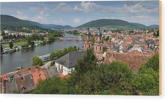 Rhine River Wood Print
