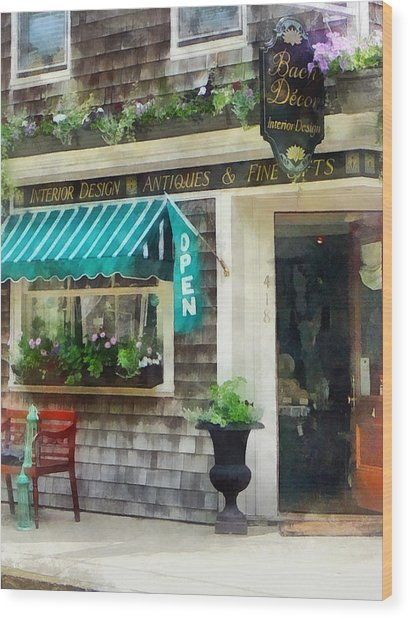 Rhode Island - Antique Shop Newport Ri Wood Print