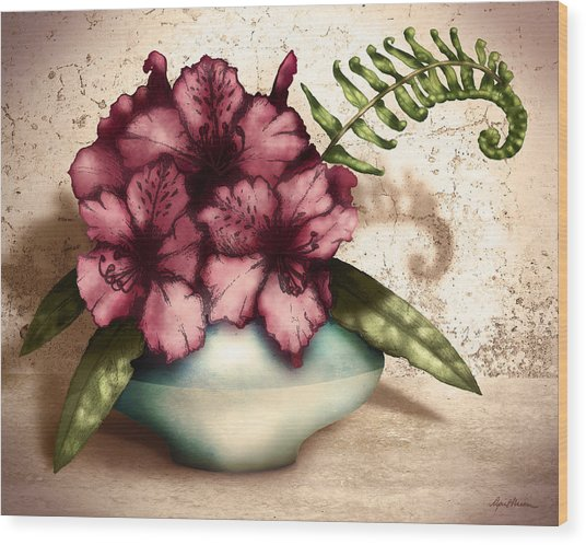 Rhododendron I Wood Print