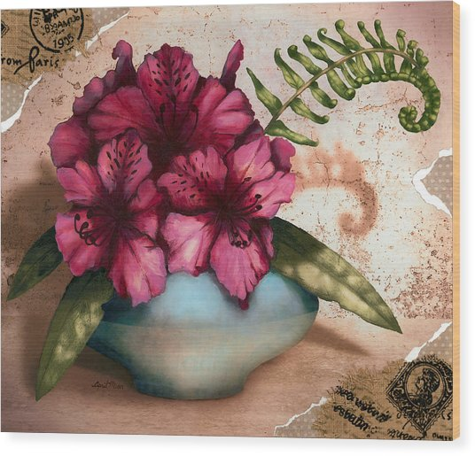 Rhododendron II Wood Print