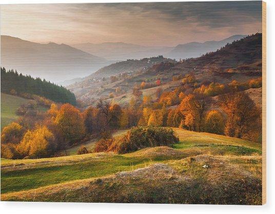 Rhodopean Landscape Wood Print