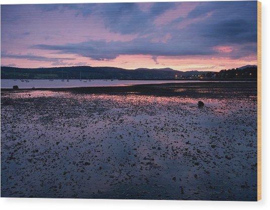 Rhu Marina Sundown Wood Print