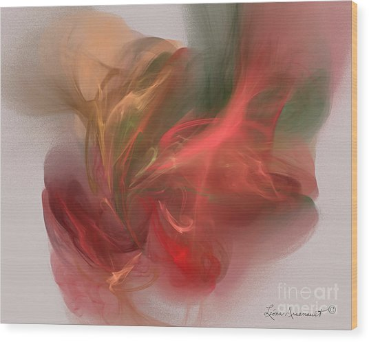 Rhythmical Dance Wood Print by Leona Arsenault
