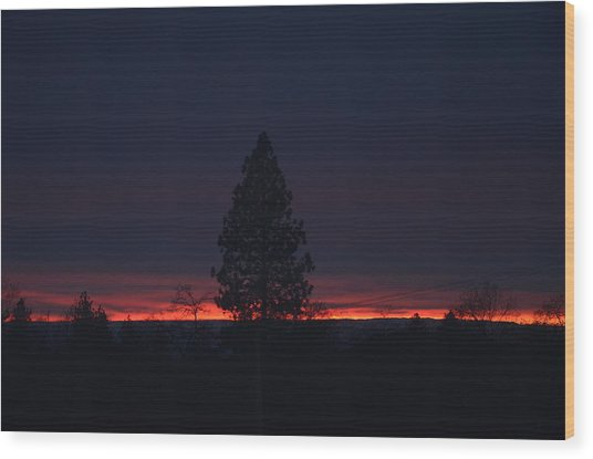 Ribbon Of Sunset Wood Print