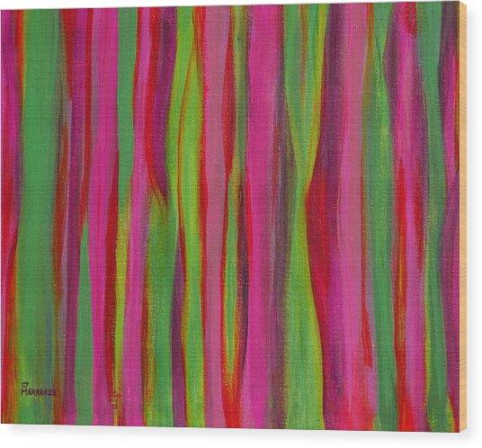 Ribbons Wood Print