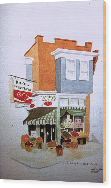 Ricco's Wood Print
