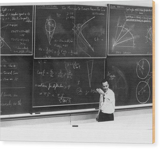 Richard Feynman Wood Print