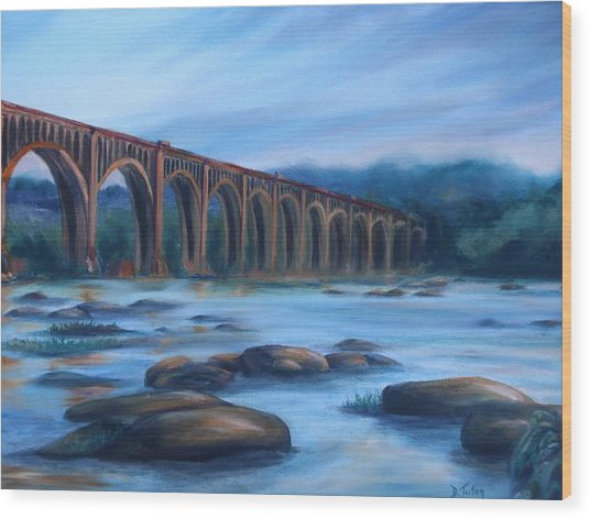 Richmond Train Trestle Wood Print