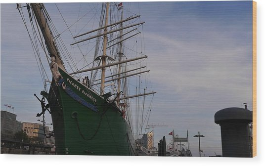 Rickmer Rickmers Wood Print by Peter Norden