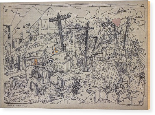 Riddle Of In-betweens Wood Print