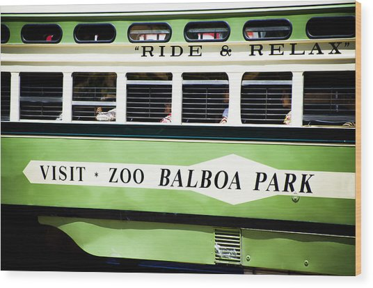 Ride And Relax San Francisco Street Car Wood Print by SFPhotoStore