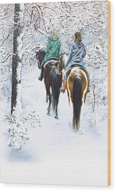 Ride Into Faerieland Wood Print