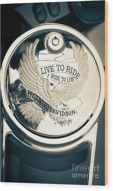 Ride To Live Wood Print