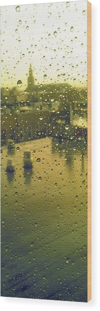 Ridgewood Wet With Rain St Matthias Roman Catholic Church Wood Print