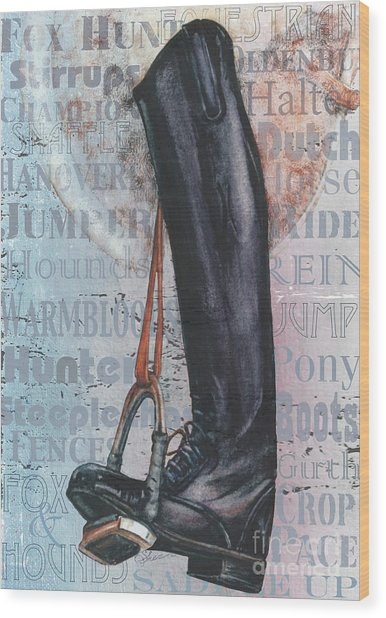 Riding Boot  Wood Print