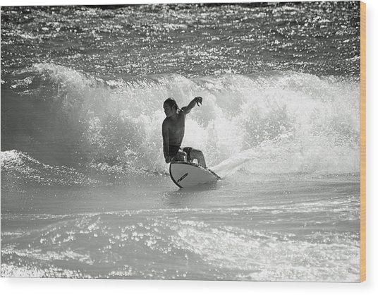 Riding The Waves Wood Print by Thomas Fouch