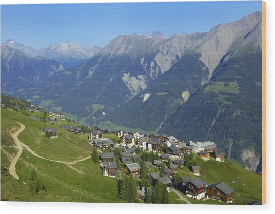 Riederalp Valais Swiss Alps Switzerland Wood Print
