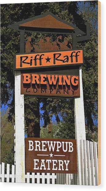 Riff Raff Brewing Wood Print
