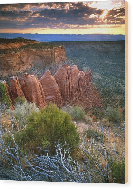 Rim Drive Sunrise Wood Print