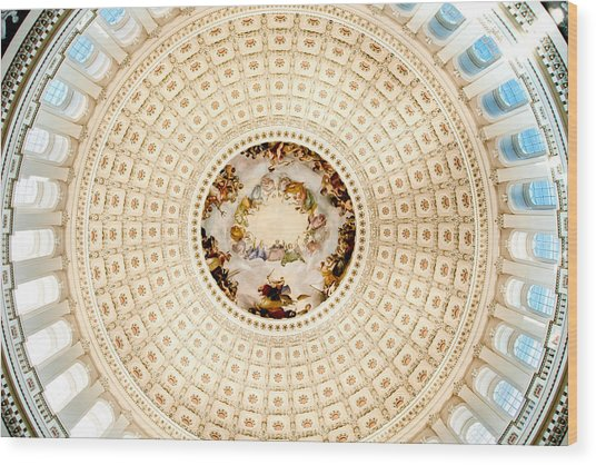 Ring Around The Capitol Wood Print