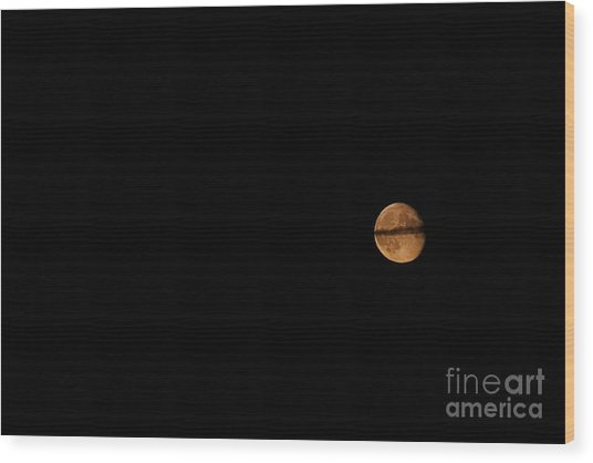 Wood Print featuring the photograph Ring Around The Moon by Ann E Robson