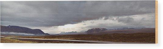 Ring Road Iceland Wood Print by Dirk Ercken