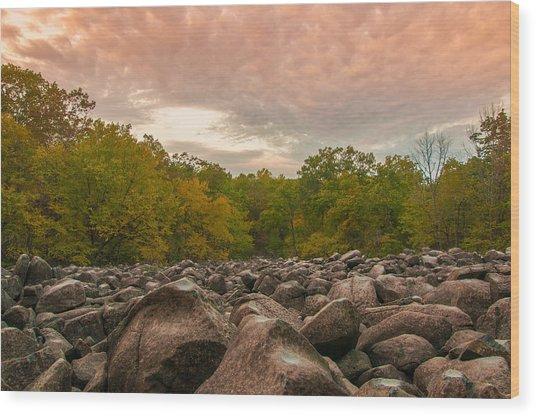 Ringing Rock Wood Print