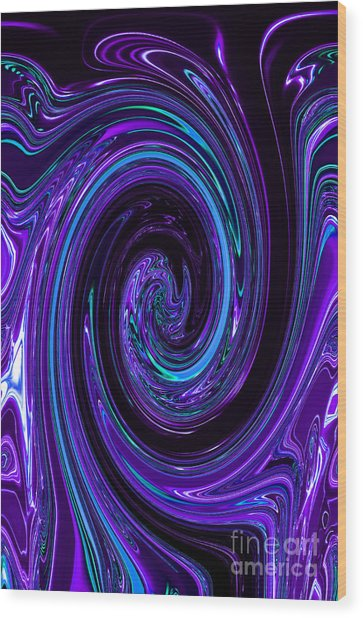 Rinse Cycle Blue And Purple Wood Print by George Zhouf