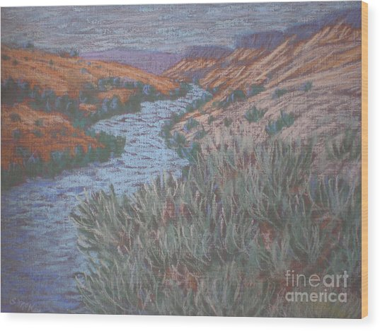 Rio Azul Wood Print