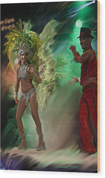 Rio Dancer II A  Wood Print