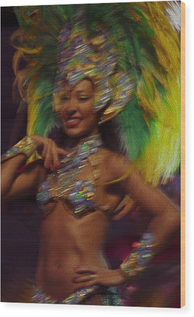 Rio Dancer IIi B Wood Print