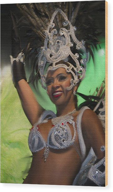 Rio Dancer Iv A Wood Print