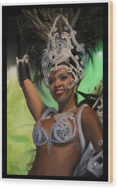 Rio Dancer Iv B Wood Print
