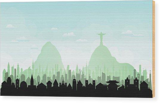 Rio De Janeiro Each Building Is Wood Print by Leontura