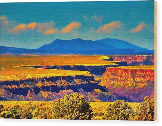 Rio Grande Gorge Lv Wood Print