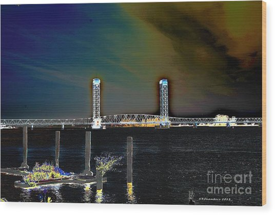 Rio Vista Bridge Wood Print
