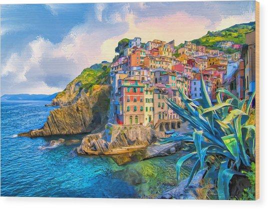Riomaggiore Morning - Cinque Terre Wood Print