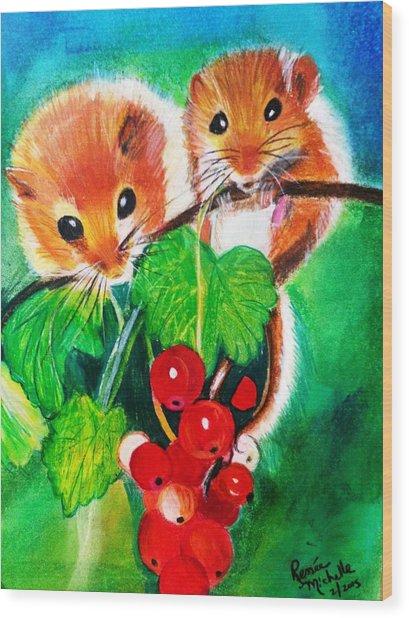 Ripe-n-ready Cherry Tomatoes Wood Print