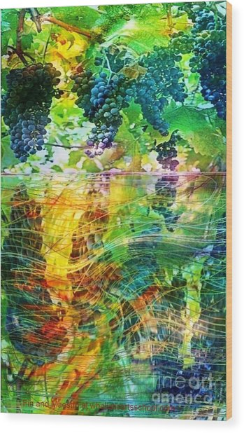 Ripened Vines Wood Print