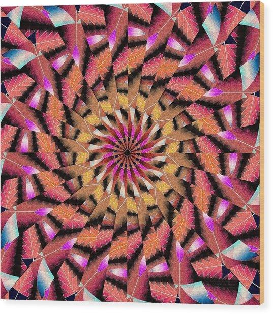 Rippled Source Kaleidoscope Wood Print