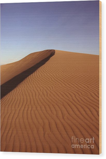 Ripples In The Sand Wood Print