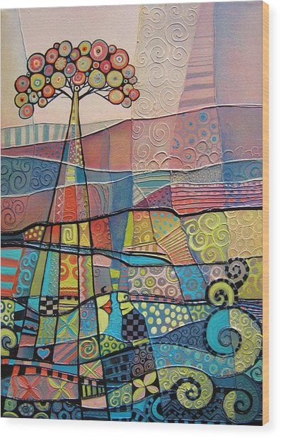 Ripples Wood Print by Tanya McCabe